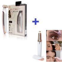 Kit Depilador Pelos Intimos Corporal Pernas USB e Caneta Depiladora Pelos Sobrancelhas - Flawless Brows