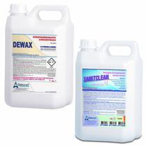 Kit Desengordurante Geral Dewax + Detergente Alcalino Clorado Sanitclean - Quimiart