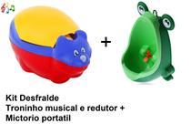 Kit Desfralde Troninho musical + Mictório infantil sapinho - Micbaby