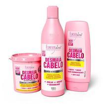 Kit Desmaia Cabelo Forever Liss - Máscara + Shampoo + Condicionador - Forever Liss Professional