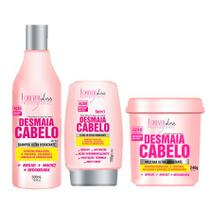 Kit Desmaia Cabelo Forever Liss Shampoo 500ml, Leave-in 150g e Máscara 240g