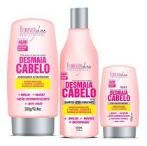 Kit Desmaia Cabelo Forever Liss Shampoo + Cond + Leave-in -