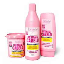 Kit Desmaia Cabelo Forever Liss  Shampoo + Condicionador + Máscara -