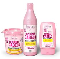 Kit Desmaia Cabelo Forever Liss  Shampoo + Máscara + Leave in -