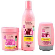 Kit Desmaia Cabelo Foreverliss 200g + shampoo 300ml +leave-in - Forever Liss