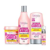 Kit Desmaia Cabelo Máscara 350g + Shampoo 500ml + Leave-in + Serum - Forever Liss