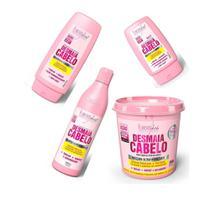 Kit Desmaia Cabelo Shampoo+ Cond+ Mascara+ Leave in Original - Forever Liss Professional