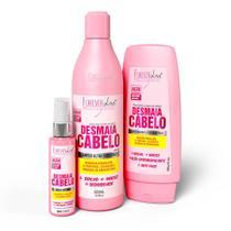 Kit Desmaia Cabelo Shampoo Condicionador e Sérum Forever Liss -