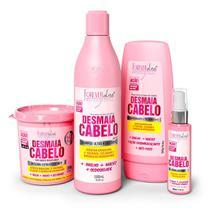Kit Desmaia Cabelo Shampoo Condicionador Sérum e Máscara 350g - Forever Liss