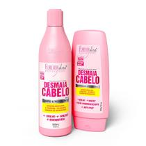 Kit Desmaia Cabelo Shampoo e Condicionador Forever Liss -