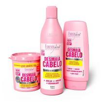 kit Desmaia Cabelo Shampoo e Máscara 350g Forever Liss GANHE Condicionador -