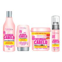 Kit Desmaia Cabelos Forever Liss Shampoo 500ml, Máscara 350g, Leave-in 150g e Sérum 60ml