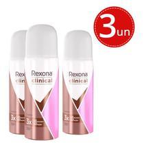 Kit Desodorante Aero Rexona Woman Clinical Classic Extra Dry 55ml - 3 Unidades -