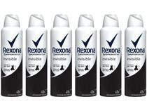 Kit Desodorante Aerossol Antitranspirante Feminino - Rexona Invisible 150ml 6 Unidades