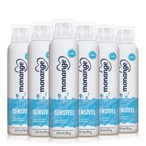 Kit Desodorante Aerossol Monange Sensível  90g c/ 6 un -