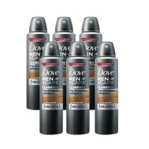 Kit Desodorante Antitranspirante Aerosol Dove Men +Care Talco Mineral 6x150ml Leve Mais e Pague Menos