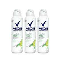 Kit Desodorante Antitranspirante Aerossol Rexona Bamboo 150ml Leve 3 Pague 2 -
