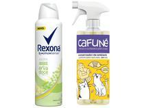Kit Desodorante Antitranspirante Feminino Rexona - 150ml + Aromatizador de Ambiente Cafuné 150ml