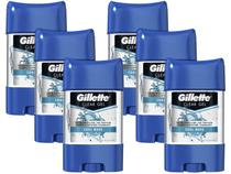Kit Desodorante Gillette Endurance Cool Wave Gel - Antitranspirante Masculino 82g 6 Unidades