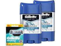 Kit Desodorante Gillette Endurance Cool Wave Gel - Masculino 82g 2 Uni + Carga para Aparelho Barbear