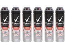 Kit Desodorante Rexona Antibacterial Protection - Aerossol Antitranspirante Masculino 150ml 6 Und