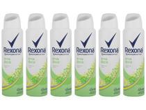 Kit Desodorante Rexona Motion Sense Erva Doce - Aerossol Antitranspirante Unissex 150ml 6 Unidades