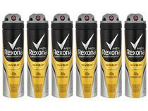 Kit Desodorante Rexona Motion Sense V8 Aerossol - Antitranspirante Masculino 150ml 6 Unidades