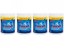 Kit Detergente em Pó Lava-Louças  - Finish Power Powder 1kg 4 Unidades