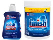 Kit Detergente em Pó Lava-Louças Finish  - Power Powder 1kg + Secante para Lava-louças 250ml