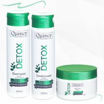 Kit Detox Limpa Remove Resíduos Reduz Volume E Frizz 250ml - Quincy