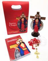 Kit Devocionario Crucifixo Terço Das Santas Chagas - Padre Reginaldo Manzotti