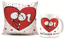 Kit dia dos Namorados 02 Caneca + Almofada personalizada 20x20cm - Caneca Com Estampa