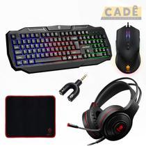 Kit Dia Dos Namorados Teclado Mouse Headset e Mousepad - Evolut