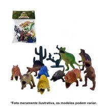 Kit Dinossauros Miniatura Pequeno de Plástico 12 Peças AKT3064 - Ark Toys