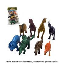 Kit Dinossauros Miniatura Pequeno de Plástico 8 Peças AKT3068 - Ark Toys