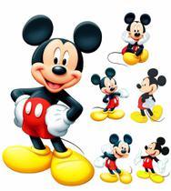 kit Display festa Mickey 1 Totem chão e 6 Displays 22cm - X4Adesivos
