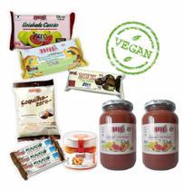 Kit Doces Vegano Zero Açúcar Diet Sem Glúten E Lactose 10uni - Hué Alimentos