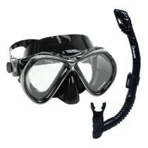 Kit Dry Onix Fun Dive Máscara Snorkel Dupla Válvula mergulho -