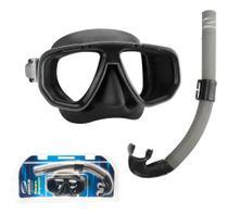 Kit Dua Seasub, Máscara Snorkel para Mergulho Pesca Sub -