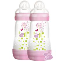 Kit Duas Mamadeiras First Bottle MAM 260 ML Girls 2m+