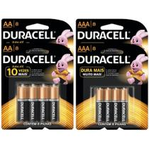 Kit Duracell Duralock Pilha Alcalina com 16 Pilhas Aaa + 16 Pilhas Aa -
