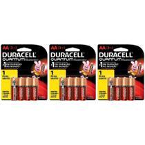 Kit Duracell Pilha Super Alcalina AA Quantum L4 P3 c/12 unidades -