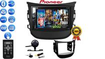 Kit Dvd 2 Din Multimidia Pioneer C/ Controle, Bluetooth Usb Cd + Câmera Moldura Hyundai Hb20 12/20 -