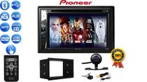 Kit Dvd Central Multimidia 2 Din Mp5 Pioneer C/ Bluetooth Cd Usb + Câmera Ré Moldura Fiesta Ecosport -