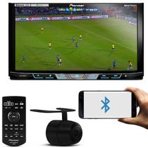 Kit DVD Player Pioneer AVH-X598TV 7 Polegadas Bluetooth TV Mixtrax USB + Câmera Ré Colorida 2 em 1 - Prime