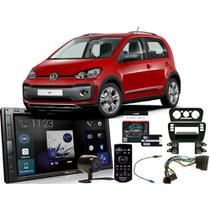 Kit DVD Player Volkswagen UP 2014 a 2017 AVH-Z5280TV Pioneer + Moldura 2din + Câmera de ré + Chicotes + Interface