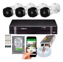 Kit dvr + 4 câmeras intelbras -