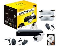 Kit DVR 4 Canais 2 Câmeras Infravermelho  - 1080p VTV 1004-N