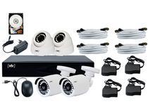 Kit DVR 8 Canais 4 Câmeras Infravermelho  - 1080P VTV 1008-N