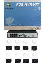 Kit DVR 8 canais +  8 câmeras POE JORTAN - Wd